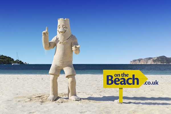 character made entirely out of sand to star in on the beach tv ad