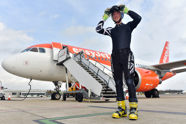EasyJet sponsors member of Great Britain Telemark ski team