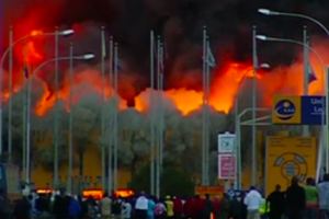 Serious fire breaks out at Kenyan airport