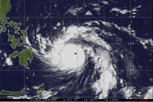 Powerful storm makes landfall in the Philippines
