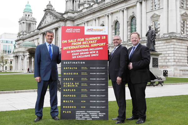 Jet2 to add eight destinations from Belfast next year