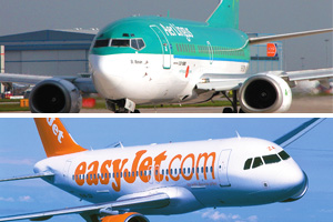 EasyJet and Aer Lingus reveal upturn in March