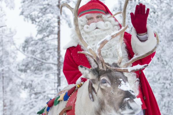 Christmas saved as snow falls on Lapland