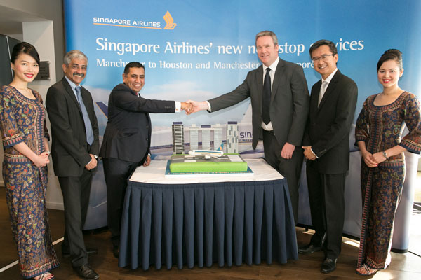 Singapore Airlines unveils direct Manchester flights to Singapore and Houston