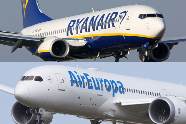 Ryanair to sell Air Europa long-haul flights