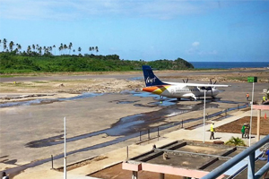 Dominica's main airport reopens after tropical storm