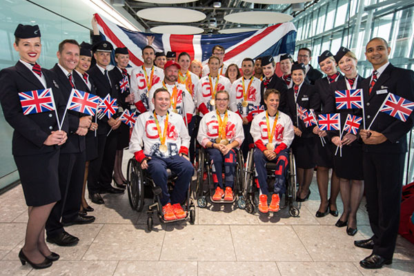 ParalympicsGB team flies home on BA's 'victoRIOus' aircraft