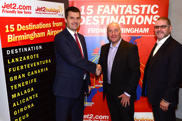 Jet2 unveils 57 weekly flights from new Birmingham base
