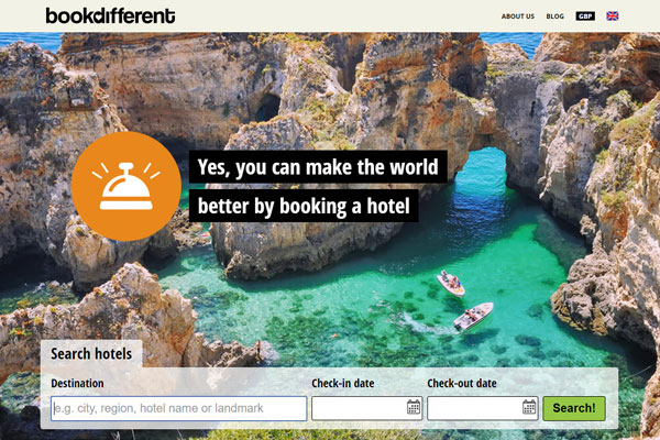 OTA BookDifferent starts giving to Travel Foundation