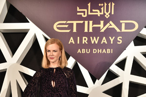 Nicole Kidman revealed as face of Etihad ad push