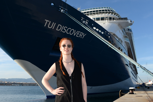 Popstar Jess Glynne performs at Thomson Cruises' new ship Tui Discovery