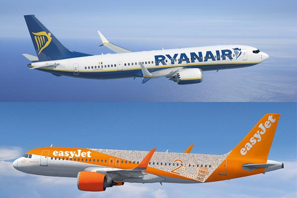 Budget rivals Ryanair and easyJet see January upturn