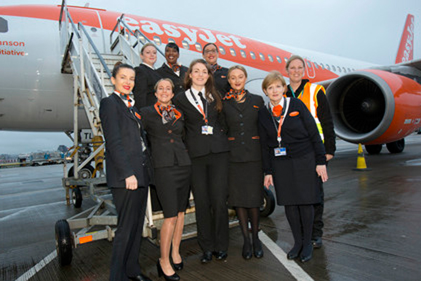 EasyJet marks International Women's Day with all-female crew