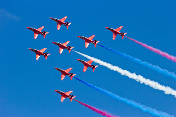 Red Arrows fly-past planned for Cunard's three ships