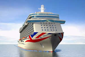 P&O Cruises reveals new Union Flag livery