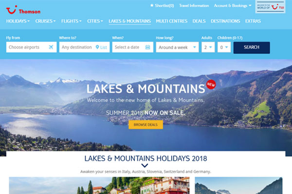 Thomson to integrate Lakes & Mountains product