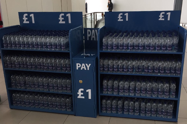 Stansted unveils honesty boxes for World Water Day