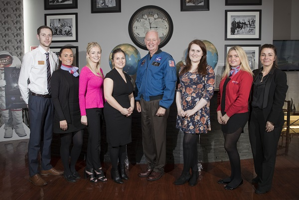 Nasa veteran visits Glasgow agents at Barrhead Travel