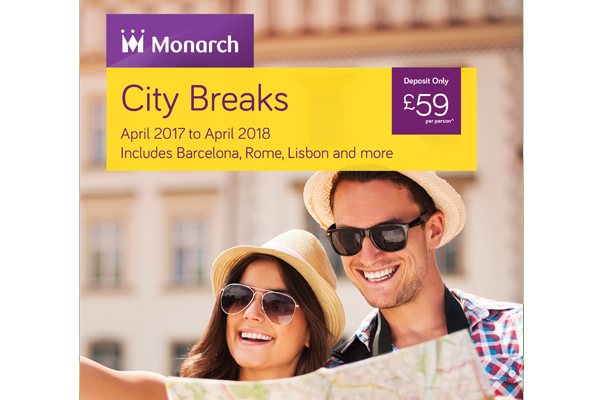 Monarch Holidays unveils first city breaks brochure