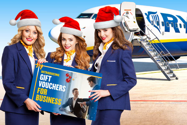 Ryanair unveils flight gift vouchers for business