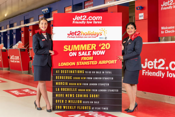 Jet2 adds nine new routes for summer 2020