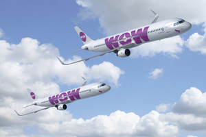Wow Air brings in A321s for new transatlantic routes