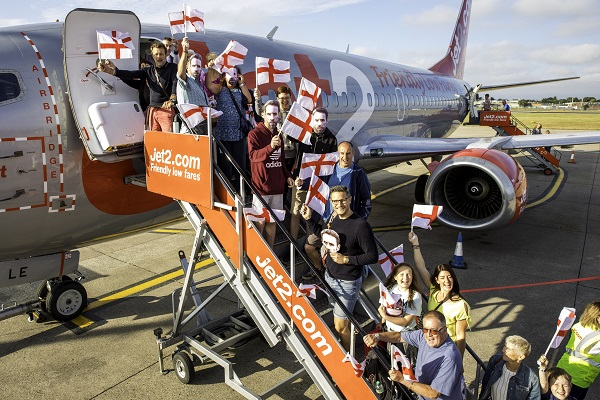 Jet2holidays passengers given Gareth Southgate masks on Croatia flight