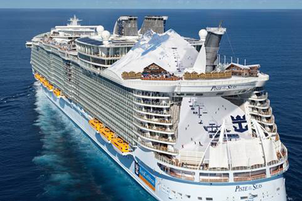 Royal Caribbean unveils world's first ski resort at sea