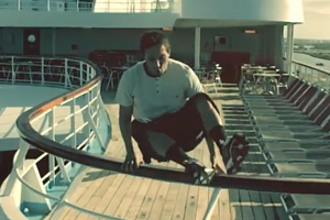 Thomson Cruises showcases ship makeovers with freerunning stunt