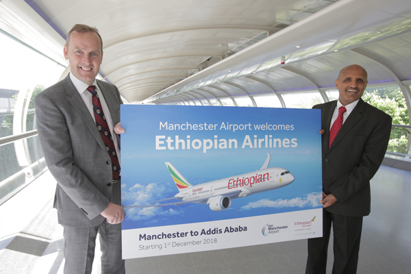 Ethiopian Airlines to launch from Manchester
