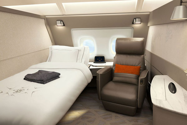 Singapore Airlines A380 fleet to be fitted with new cabins