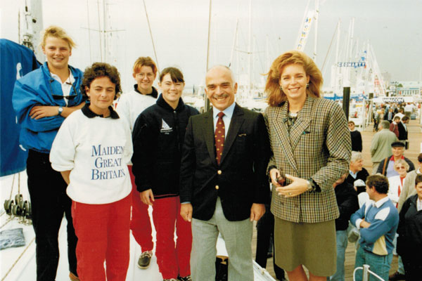 Tracy Edwards and King Hussein of Jordan