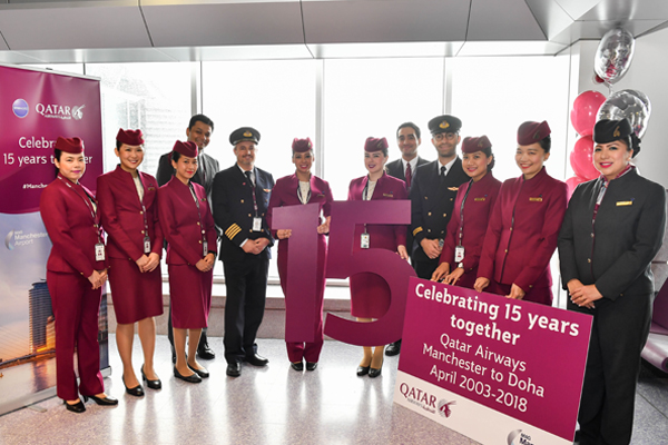 Qatar Airways marks Manchester anniversary with 10% off promotion