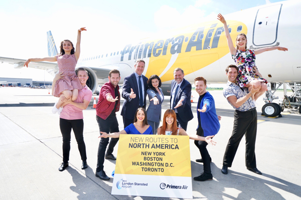 Primera Air's first transatlantic Stansted flight takes off
