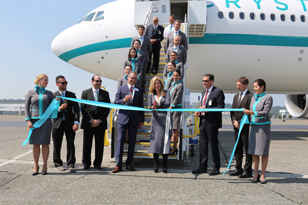 Crystal AirCruises welcomes new Boeing 777 to fleet