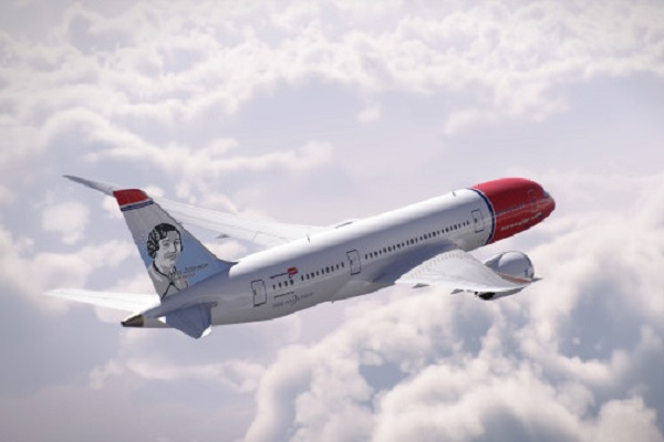 British aviation legend's portrait to appear on fin tail of Norwegian aircraft