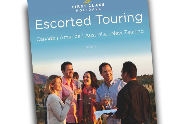 First Class prints first Escorted Touring brochure
