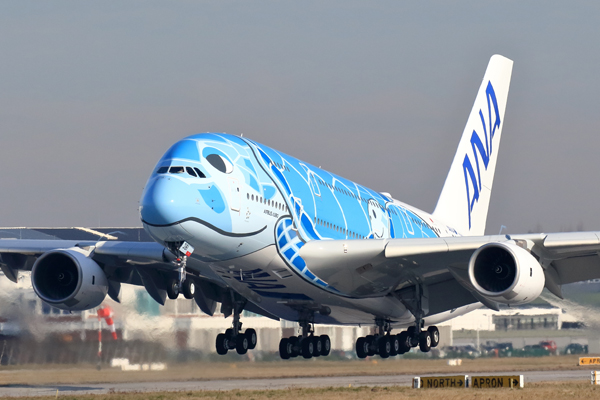 ANA takes delivery of 'flying turtle' A380