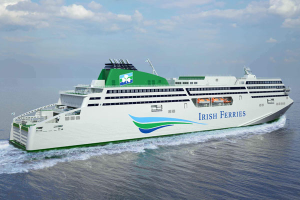 Irish Ferries owner reports growth in car carryings