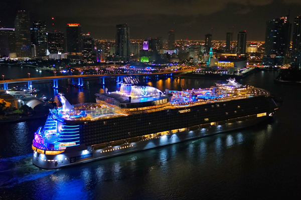 Royal Caribbean's Symphony of the Seas arrives in Miami