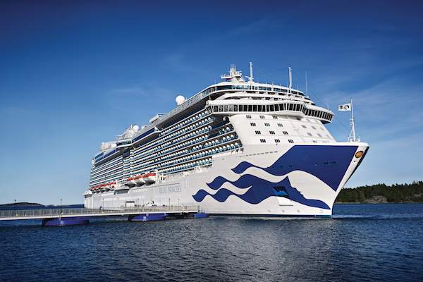 Princess Cruises adds three ex-UK sailings to 2021 programme