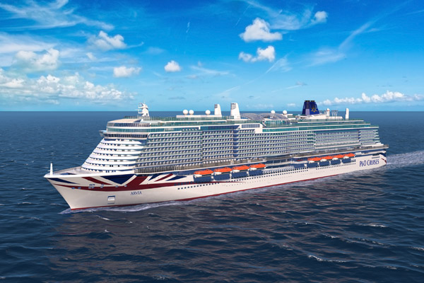 P&O Cruises names second Excel-class vessel